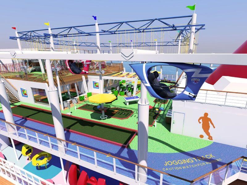 Sport square du bateau de croisière Carnival Victory