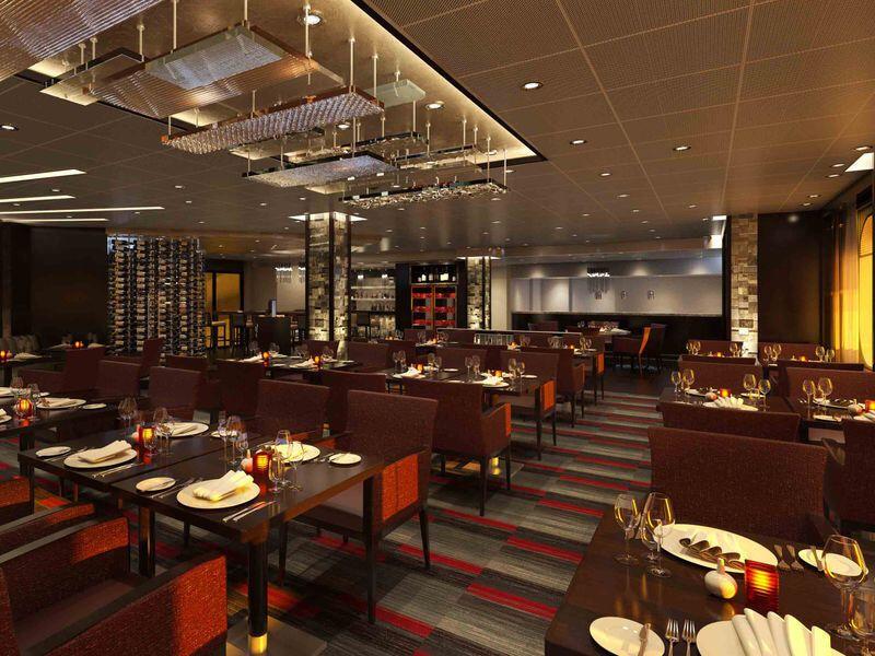 Steakhouse du bateau de croisière Carnival Elation