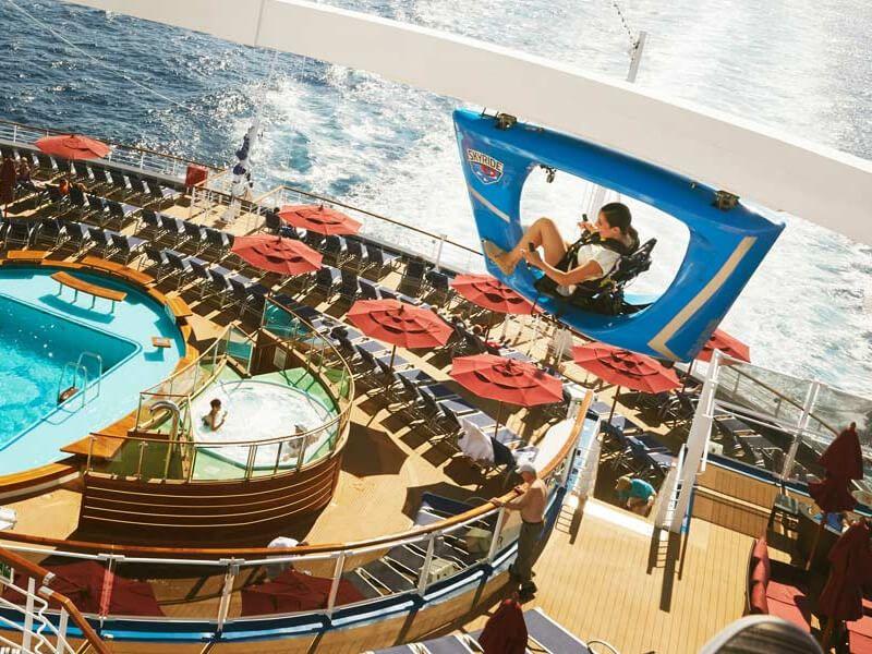 SkyRide du bateau de croisière Carnival Glory