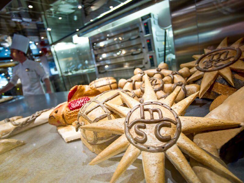 Boulangerie du bateau de croisière MSC Preziosa
