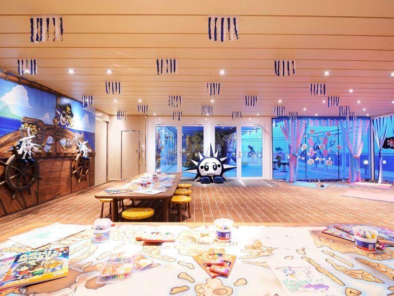 Salle de jeux du bateau de croisière MSC Preziosa
