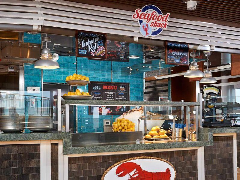 Seafood Shack du bateau de croisière Carnival Inspiration