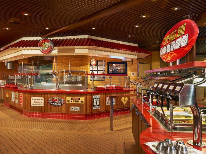 Guy's Burger du bateau de croisière Carnival Freedom