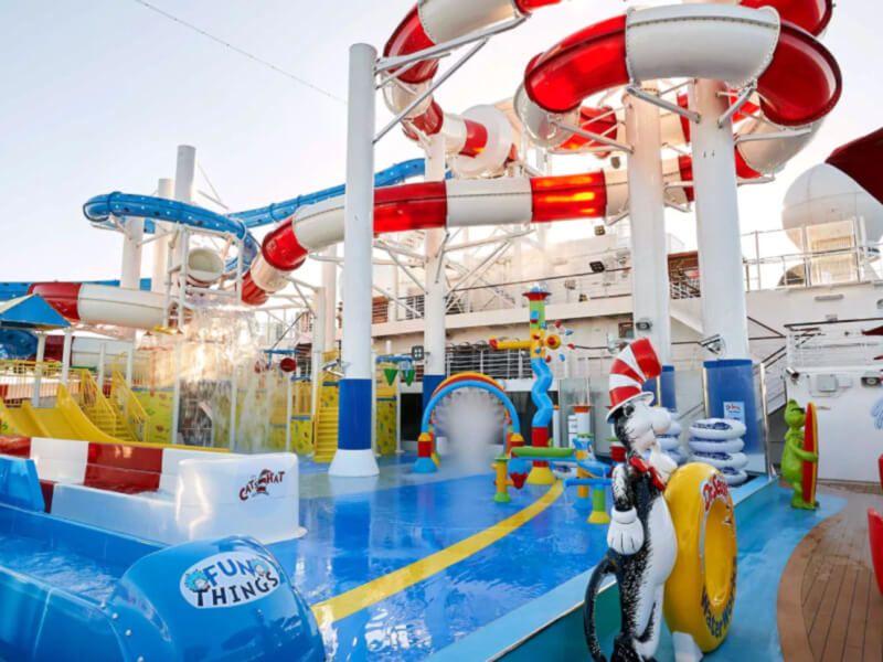 Waterworks du bateau de croisière Carnival Freedom