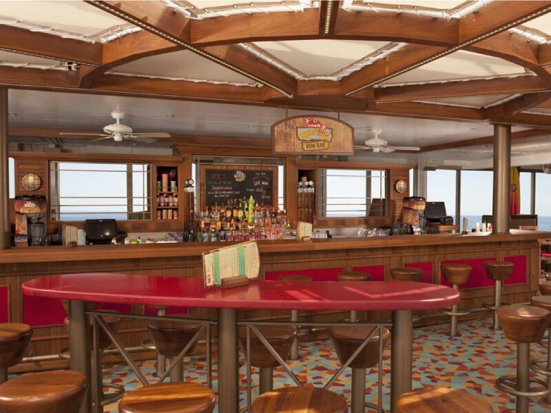 Red Frog Rum Bar du bateau de croisière Carnival Legend