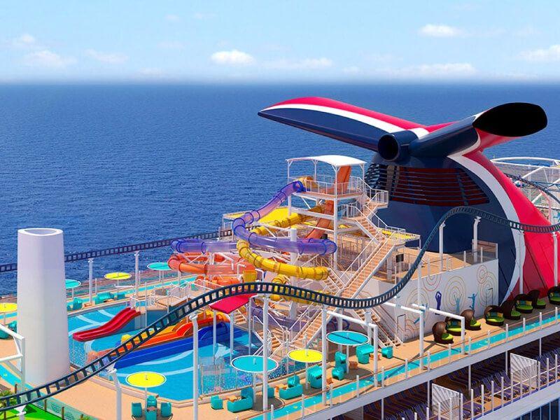 Waterworks du bateau de croisière Carnival Legend