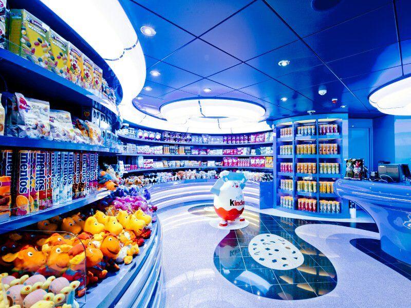 Boutique pour enfants du bateau de croisière MSC Divina