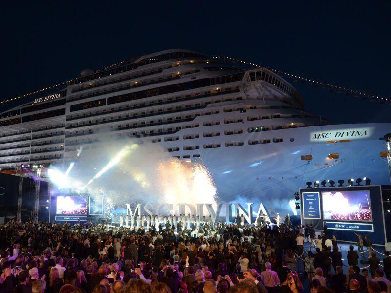 Soirée d'inauguration du bateau de croisière MSC Divina