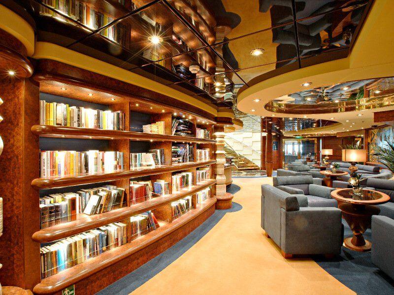 Bibliothèque du bateau de croisière MSC Splendida