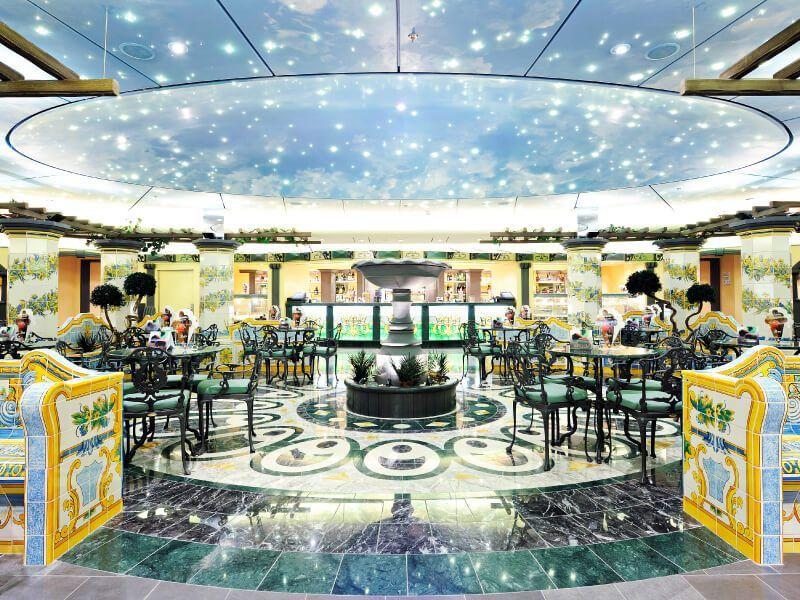 Café du bateau de croisière MSC Splendida