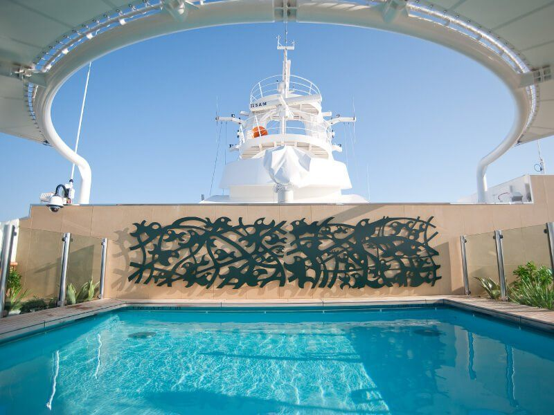 Piscine privée du bateau de croisière MSC Splendida