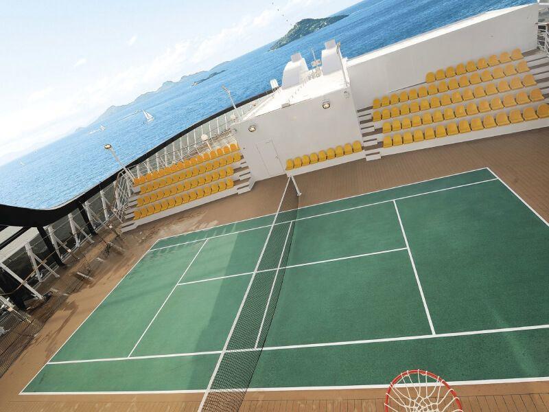 Court de tennis du bateau de croisière MSC Virtuosa