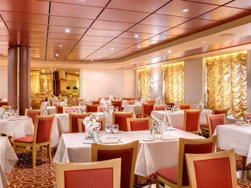 Restaurant du bateau de croisière MSC Virtuosa