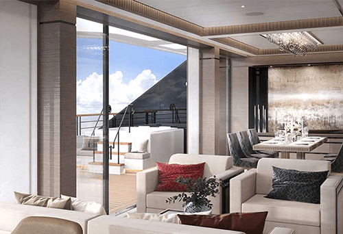 Ritz Carlton Yacht Suite dayroom
