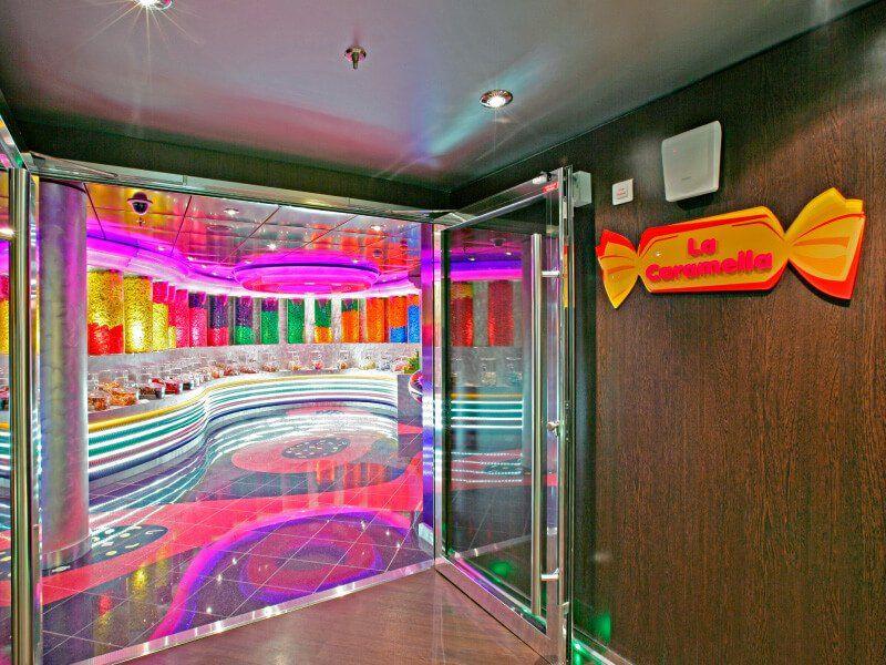 Boutique bonbons du bateau de croisière MSC Fantasia