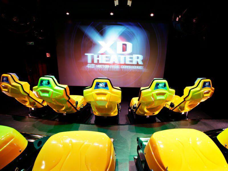 Salle de cinéma 4D du bateau de croisière MSC Fantasia