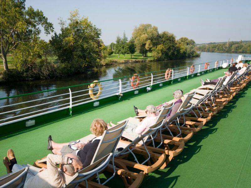 Pont soleil du bateau MS Rhône Princess