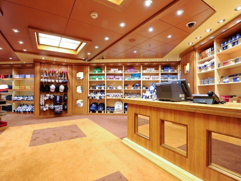 Boutique souvenir du bateau de croisière MSC Magnifica