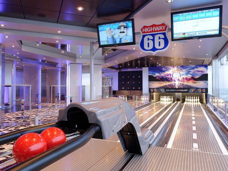 Jouez au Bowling à bord du bateau de croisière MSC Magnifica