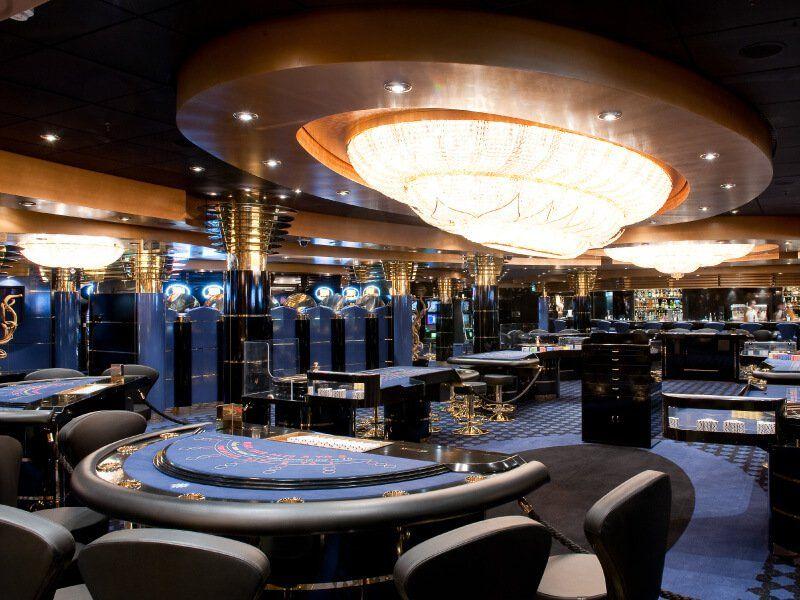 Casino à bord du du bateau de croisière MSC Magnifica