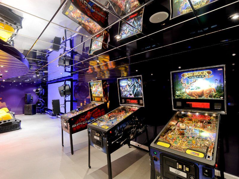 Salle de jeux vidéo du bateau de croisière MSC Magnifica