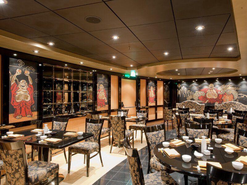 Restaurant asiatique du bateau de croisière MSC Magnifica