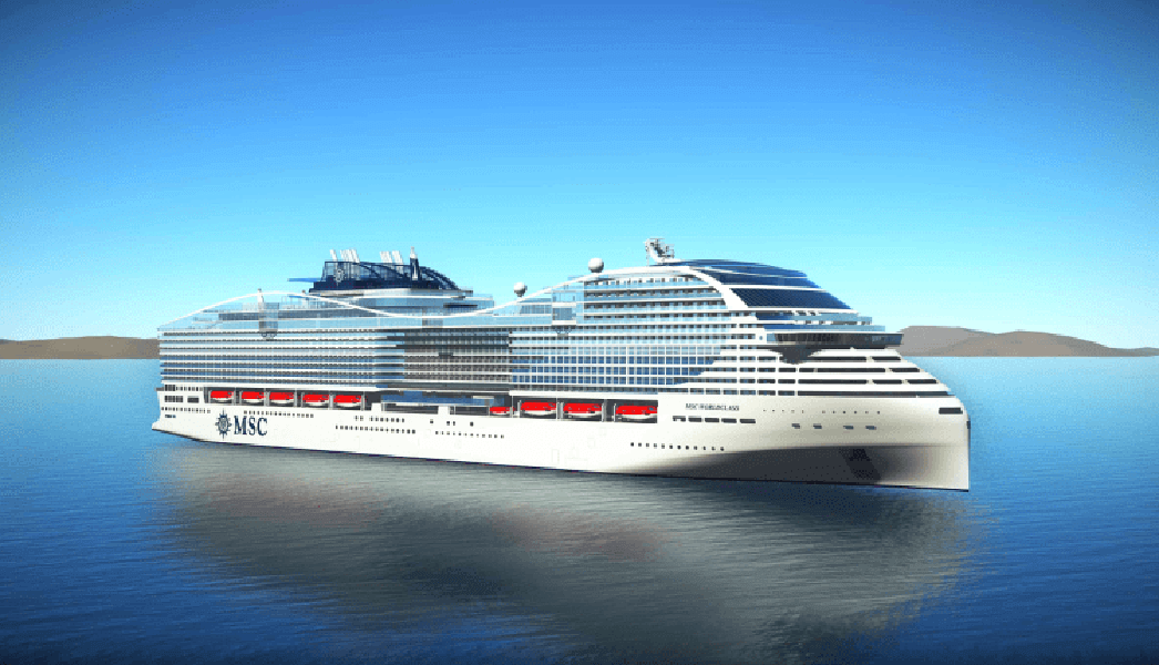 MSC Europa - le bateau vert (GPL) de MSC Cruises
