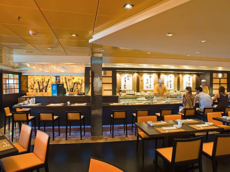 Sushi bar du bateau de croisière MSC Musica