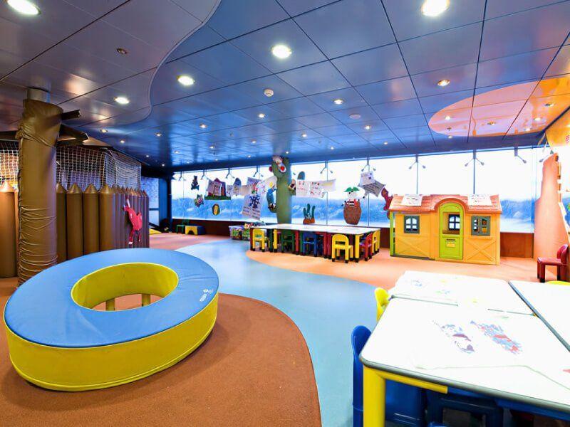 Zone destinée aux enfants du bateau de croisière MSC Opera