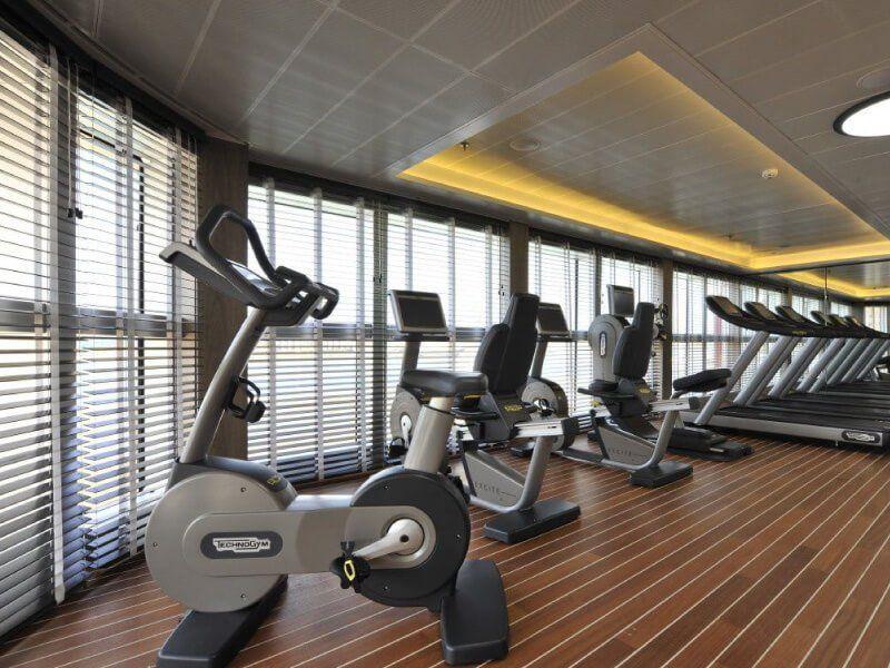 Salle de fitness du bateau de croisière Le Soléal
