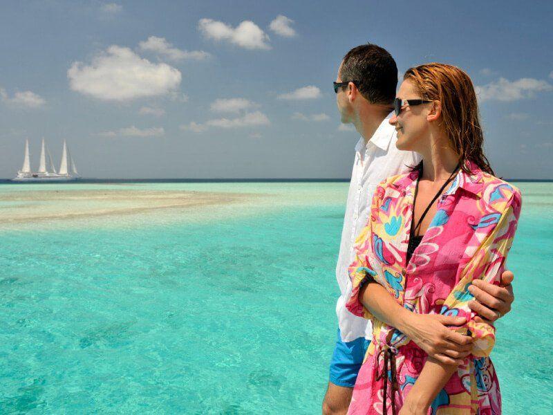 Les Maldives lors du croisière à bord du voilier Le Ponant