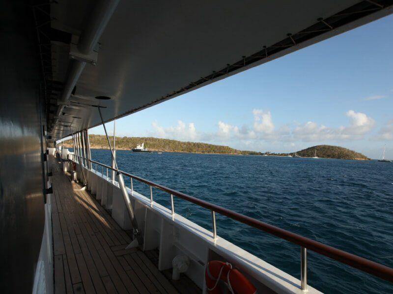 Pont extérieur du voilier de croisière Le Ponant