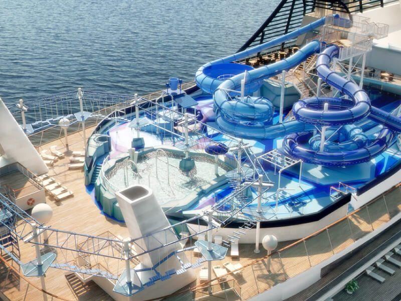 Aqua-Parc du bateau de croisière MSC Meraviglia