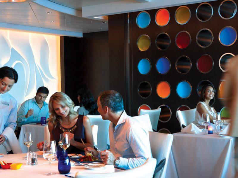 Blu restaurant du bateau de croisière Celebrity Solstice