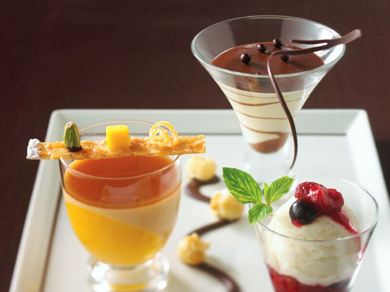 Dessert à déguster à bord du bateau de croisière Celebrity Equinox