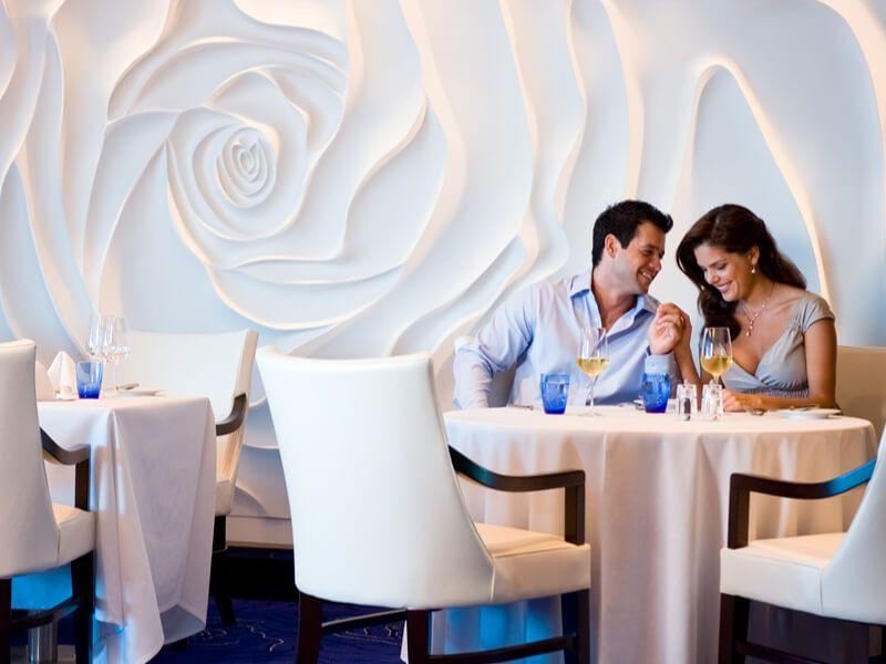 Restaurant blu du bateau de croisière Celebrity Silhouette