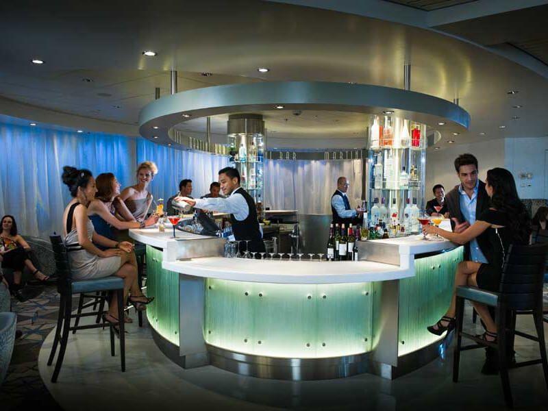 Martini Bar du bateau de croisière Celebrity Millennium