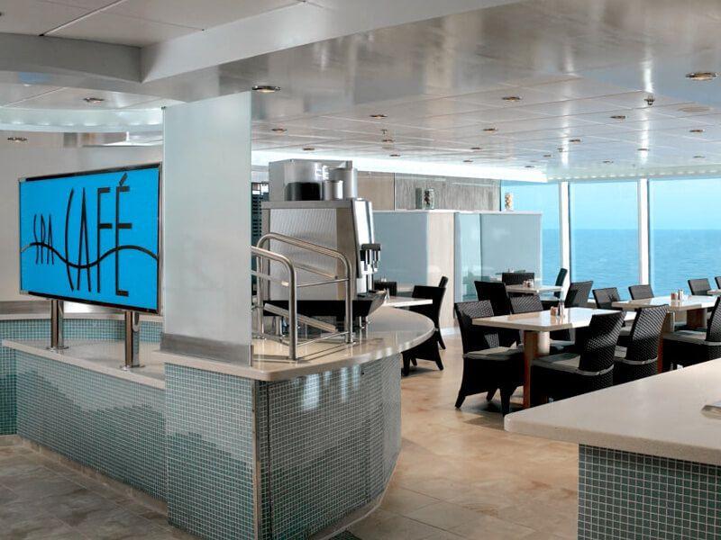Spa café du bateau de croisière Celebrity Millennium