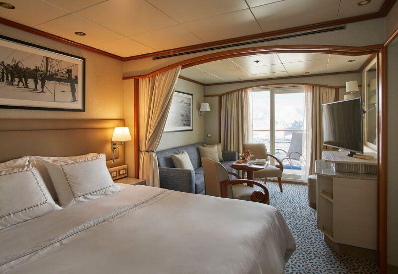 Deluxe veranda suite du bateau de croisière Silver Cloud