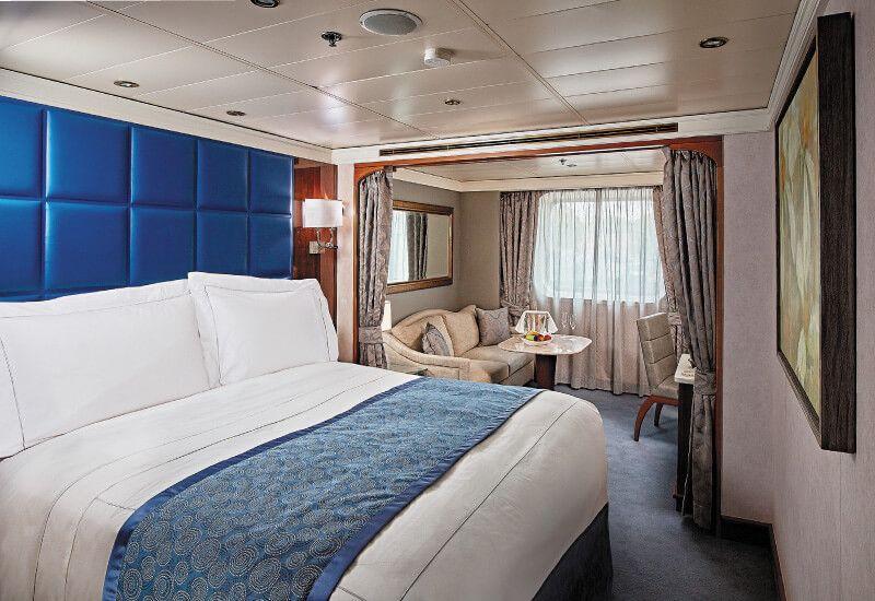 Suite Deluxe Extérieure du bateau de croisière Seven Seas Voyager