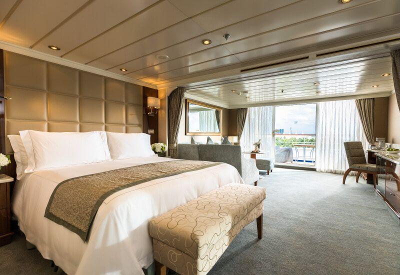 Suite PENTHOUSE du bateau de croisière Seven Seas Mariner