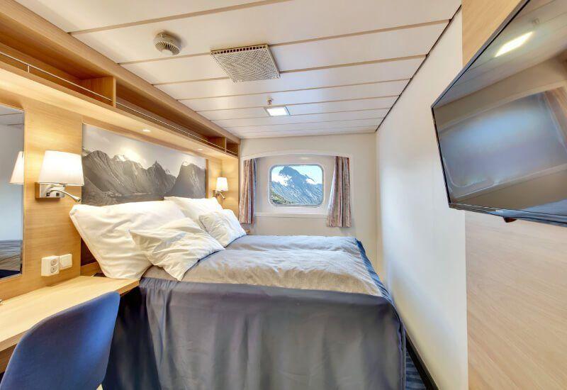 Cabine Extérieure du bateau de croisière MS Kong-Harald