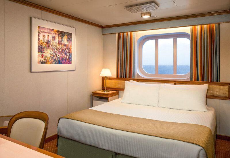 Cabine Extérieure du bateau de croisière Caribbean Princess