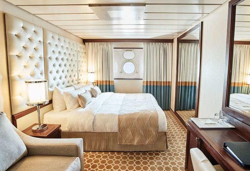 Cabine Extérieure du bateau de croisière Pacific Princess