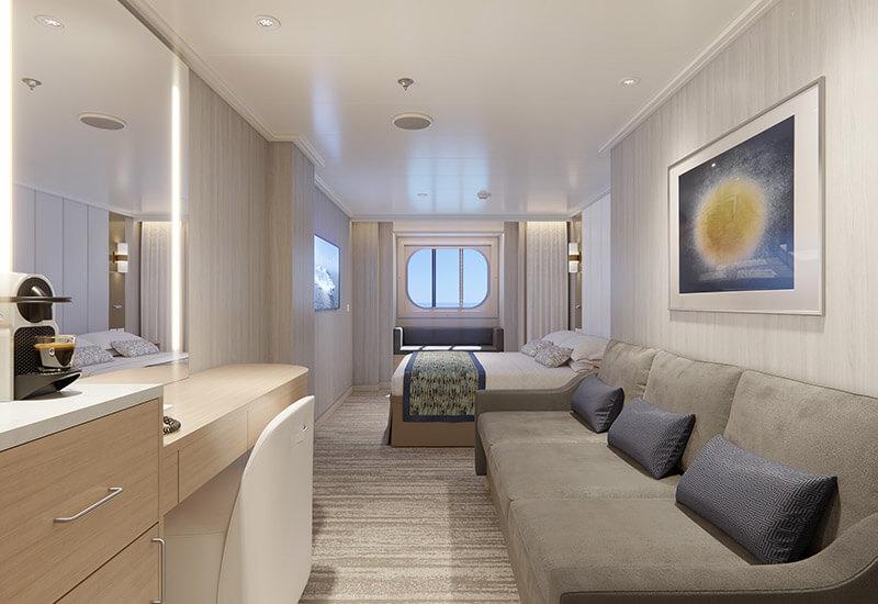 Cabine Extérieure du bateau de croisière Sun Princess