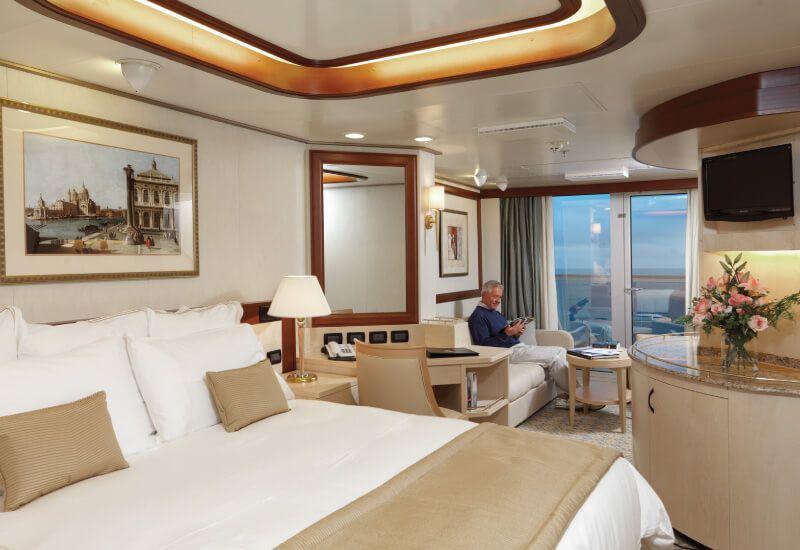 Cabine balcon du bateau de croisière Queen Elizabeth