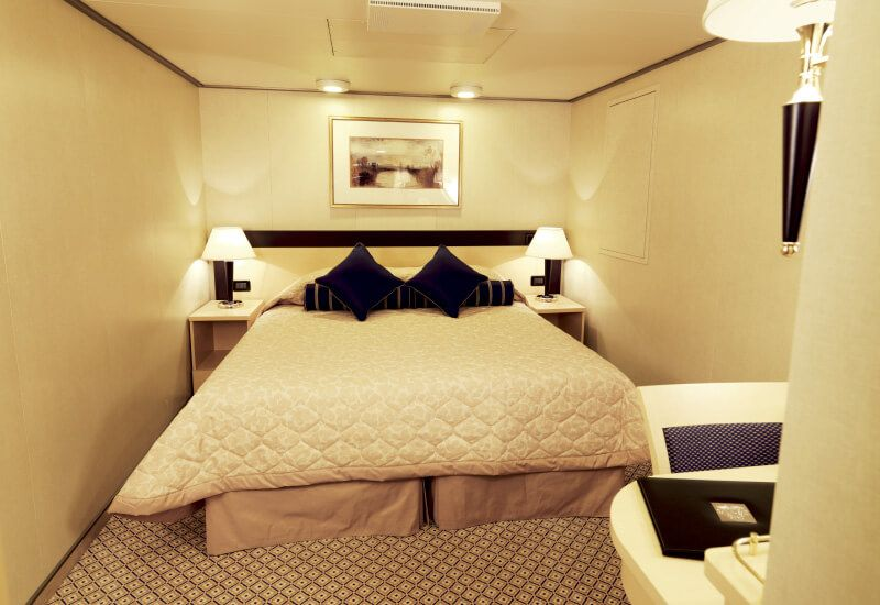 Cabine intérieure du bateau de croisière Queen Victoria