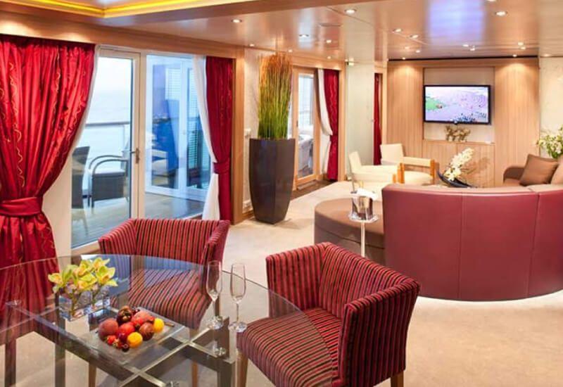 Grande Suite du bateau de croisière Seabourn Quest