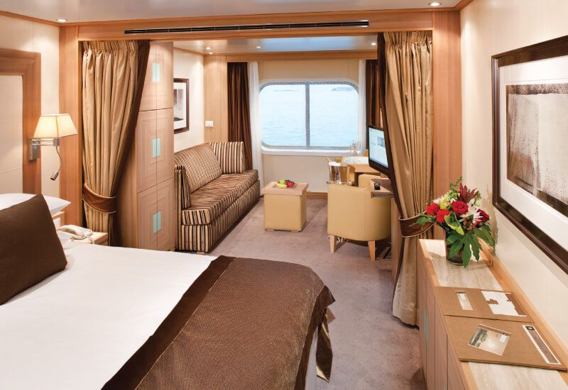 Suite extérieure du bateau de croisière Seabourn Quest