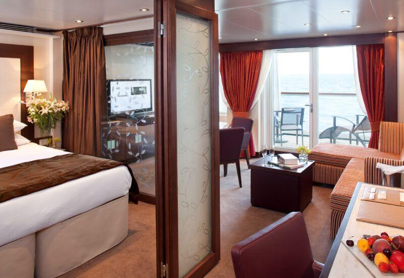 Suite Penthouse du bateau de croisière Seabourn Quest